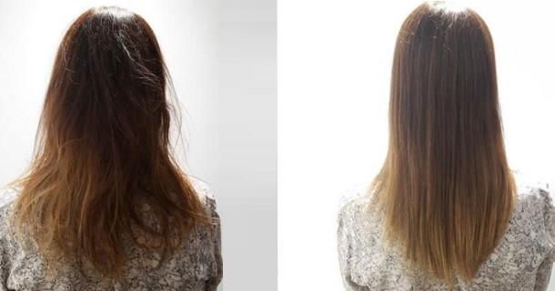 nawilżanie włosów przed i po - sposoby jak nawilżyć suche włosy